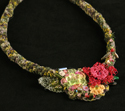Crocheted and knitted Summer Flowers necklace