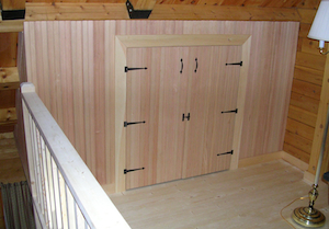 Custom built closet doors