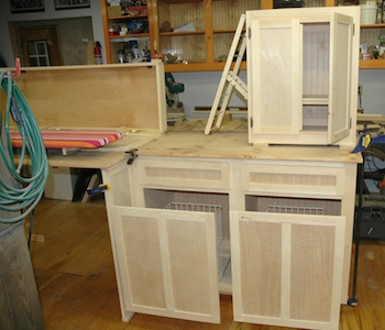 laundry cabinets in shop